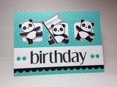 Birthday Pandas! by beesmom - Cards and Paper Crafts at Splitcoaststampers
