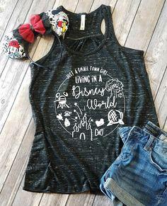 Small town girl living in a Disney World Flowy Tank - Disney Shirts - Disney shirts for women - Disney Family Shirts - Disney Tank tops Disney Tank Tops, Disney Vacation Shirts, Disney Shirts For Family, Disney Vacations, Disney T Shirts, Disney Honeymoon, Disney Shirt For Women, Disney Clothing For Women, Disney Princess Shirts