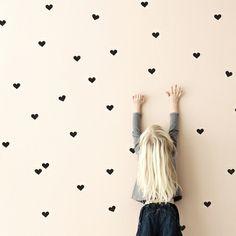 I think I fount it!!! Black Mini Hearts Wall Stickers wallpaper