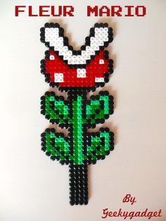Pirahna plant - Mario hama beads by Geekygadget