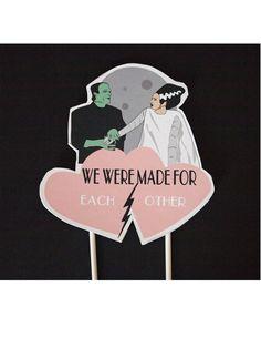 Wedding Cake Frankenstein Bride of Frankenstein by ThePixelette Täältä saa custom-toppereita, sellainen!