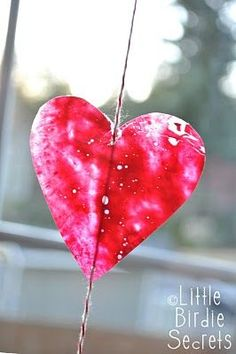 make crayon stained glass hearts with your kids {how to}   Little Birdie Secrets