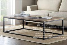 Loft moderna sala de estar minimalista mesas mesa de té café retro de madera rústica muebles soportes pocos Zhuojiao