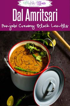 Indian Vegetarian Recipes 189432728063676352 - Dal Amritsari is a thick, healthy, protein rich gravy that tastes great and gives nourishment for hours. It can be eaten with rice or naan. Source by whiskaffair Chutney Recipes, Lentil Recipes, Veg Recipes, Indian Food Recipes, Crockpot Recipes, Cooking Recipes, Diwali Recipes, Protein Recipes, Healthy Recipes