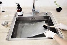Arjen niksi: Puhdista liesituulettimen rasvasuodatin ekologisesti Cleaning Hacks, Helpful Hints, Sink, Home Decor, Sink Tops, Useful Tips, Interior Design, Home Interior Design, Sinks