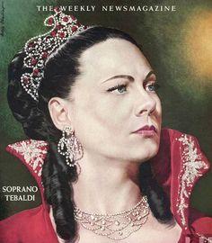 Opera singer Renata Tebaldi TIME over art by Boris Chaliapin