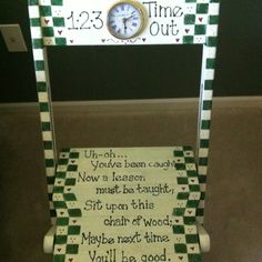 Time out chair! Gonna make this for the boys.