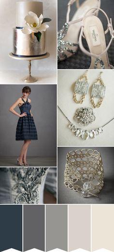Navy Wedding Inspiration | Winter Wedding | Color Scheme
