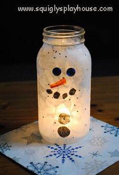 pinterest christmas snowman craft ideas | Christmas Craft: Snowman Light