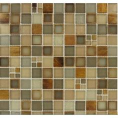 "Buy Myrtle Manhattan Blend 1"" x 1"" Glass Mosaic Tiles Meshed on 12 x 12 Sheet, Bathroom Walls, Kitchen Backsplash, Shower Walls, Living Room Floor from mosaictiledirect.net Online Store."