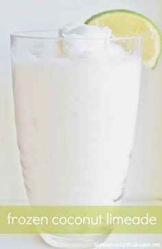 Frozen Coconut Limeade Recipe - *5 1/2 cups ice  *5/8 cup Coco Lopez cream of coconut (can be found in most grocery stores near the mixed drinks section)  *4-5 Tbsp. frozen limeade concentrate  *1/8 cup water.  Add all ingredients to a blender and blend until smooth.    Try with other concentrates like lemonade or strawberry