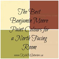 The best most popular Benjamin moore paint colours for a North Facing, Northern Exposure room. Chestertown Buff, Powell Buff, Split Pea and more....