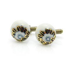 Classical Japanese patterns hand painted porcelain by cuffcuff, $68.00