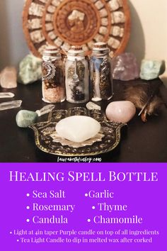 Spell Bottles are a great and simple way to practice your magic and set your intentions. We need healing in so many different ways and healing is available for us all to connect to. Jar Spells, Healing Spells, Magick Spells, Wiccan Witch, Witchcraft, Health Spell, Spells For Beginners, Witch Bottles, Wiccan Crafts