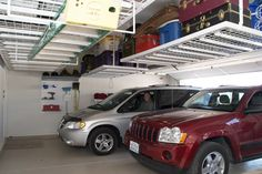 View Photos Of Custom Overhead Garage Storage By Ideal Solutions In The Fort Worth Area Professional And Shelf Installation