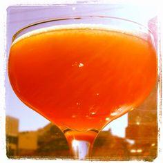 BOMBAY SMASH Buffalo Trace Bourbon, house-made tamarind liqueur, fresh strawberry, lemon, mint, agave, served up! @dosasf