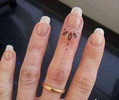 Under the nail tattoo! #cool #tattoo #small #finger #nail #hand #ring