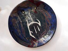 Guerriero-Ceramica smaltata,diam.cm 60, 2017, biscotto realizzato a mano-Marilù Viviano