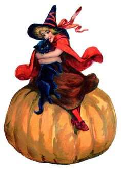 halloween+witch+vintage+image+graphicsfairy002b.jpg 993×1,393 pixels