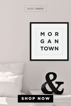 Culver and Cambridge's Minimalist Morgantown Print. Bold, black typography with your favorite place, your hometown, or where you left your heart. Our minimalist prints make great gallery walls and college dorm décor. Shop our Amazon Store for more cities, states, and countries Morgantown Poster, Morgantown Wall Art, Minimalist City Wall Art, City Poster, Travel Art, Black and White Modern Art || culverandcambridge.com || Morgantown West Virginia Gifts || #poster #artprint #walldecor Morgantown West Virginia, Minimalist Dorm, Dorm Walls, College Dorm Decorations, Office Prints, Black And White Prints, Modern City, Gallery Walls, Office Wall Decor