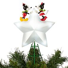 13a81840884 Mickey and Minnie Mouse Light-Up Tree Topper Mickey Christmas