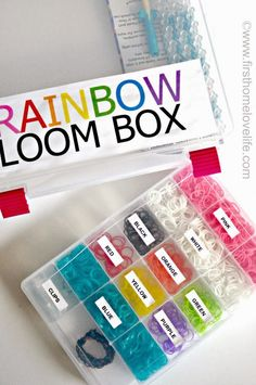 Organizing Rainbow Loom Bands :: OrganizingMadeFun.com