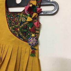 No photo description available. Kurti Designs Party Wear, Kurta Designs, Blouse Designs, Garba Dress, Navratri Dress, Kurti Embroidery Design, Kids Frocks Design, Stylish Blouse Design, Dress Neck Designs