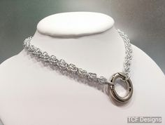 Sweetpea Chainmaille BDSM Slave Collar, Day Collar, Sub Collar, O Ring Collar, Fetish Collar by TheCagedFlower on Etsy https://www.etsy.com/listing/199097815/sweetpea-chainmaille-bdsm-slave-collar