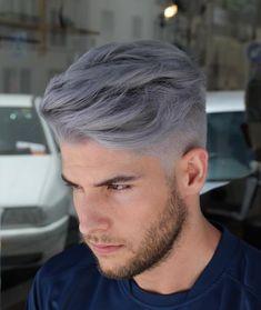Comment below 👇🏻 Bleached Hair Men, Dyed Hair Men, Dye My Hair, Men's Hair, Mens Hair Colour, Hair Color Dark, Cool Hair Color, Silver Hair Men, Silver Ombre Hair