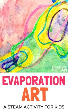 Evaporation Art with Puddles - exploring science of water evaporation through STEAM activity Preschool Science, Science For Kids, Art For Kids, Science Art, Preschool Art Lessons, Preschool Projects, Math Art, Kids Crafts, Steam Activities