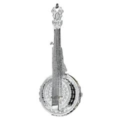 Danbury Mint Silver Banjo