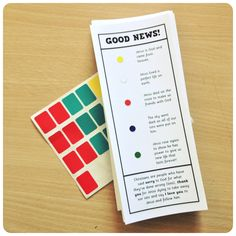 As children go around five carnival style games they get a sticker if they win the game. When their bookmark is completed they get a prize. The bookmark is an adapted version of the Wordless Book.