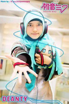 : Hijab / Headcoverings - Creative Cosplay and . Best Cosplay, Awesome Cosplay, Anime Cosplay, Anime Muslim, Anime Reccomendations, Cosplay Tutorial, Manga, Hatsune Miku, Lolita Fashion