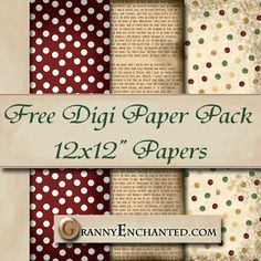 GRANNY ENCHANTED'S BLOG: Free Newsprint Digi Scrapbook Paper Pack ♥♥Join 3,100 people. Follow our Free Digital Scrapbook Board. New Freebies every day.♥♥