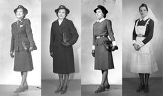 Some different uniforms for army nurses during WW2!