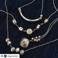 #Repost @atganesha  小さくても銀 カレンのパーツでゆらゆら#シンプル #ネックレス #カレンシルバー  #カレン族 #アジアの素敵 #素朴なぬくもり #手仕事 #ガネーシャ#hilltribe #karean #silver #handmade