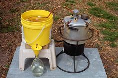 homemade pot still Destilar Alcohol, Alcohol Still, Home Distilling, Distilling Alcohol, Moonshine Whiskey, Copper Moonshine Still, Moonshine Recipe, Homemade Alcohol, Homemade Liquor