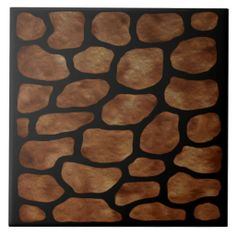 """Brown Stone Stained Glass"" Pattern Ceramic Tile. Excellent for tile works projects. Option to add Text. Add a wooden frame and use as a trivet. Add a black lacquer wooden box in 5"" and 7"" square sizes to make a lovely complement and gift in the $30 range.  http://www.zazzle.com/brown_stone_lighted_stained_glass_ceramic_tile-227900900712308225?rf=238301468915483943 . #Tiles #BrownStone #DecorativeBoxes #HomeDecor #CeramicTiles #BrownStoneTiles"