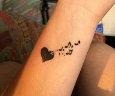 Super Ideas For Music Tattoo Ear Tatoo Music Heart Tattoo, Small Music Tattoos, Music Symbol Tattoo, Tiny Bird Tattoos, Music Tattoo Designs, Little Tattoos, Mini Tattoos, Body Art Tattoos, Music Tattoo Sleeves