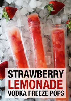 A refreshing alcoholic freeze pop. An easy cocktail recipe to make strawberry lemonade vodka freeze pops. Ice Pop Recipes, Alcohol Drink Recipes, Popsicle Recipes, Shot Recipes, Fun Recipes, Vodka Popsicles, Alcoholic Popsicles, Homemade Popsicles, Frozen Cocktails
