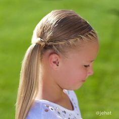 jehat hair — Hallie wanted a twist to side ponytail! I love...