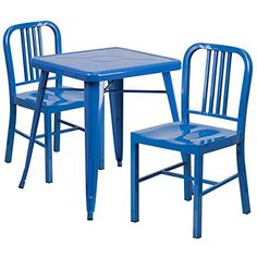 IndoorOutdoor Table Set Blue *** Check this out by going to the link at the image.