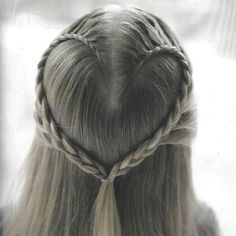 heart flower braids.