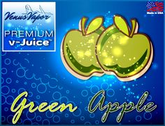 """Green Apple - Reg. price $5.99 #CyberMonday: 45% off! Use code """"cybermonday"""" at checkout. #ejuice #vaping #ecigs http://www.venusvapor.com/product/green-apple/"""