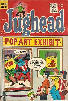 Vintage ARCHIE Comic Book 1966 JUGHEAD No. 134 POP ART EXHIBIT Cartoon Comics
