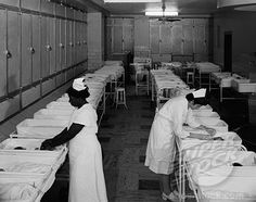 When there were Nurses assigned to babies in the nursery at night.  Babies were shown thru the windows twice a day only.