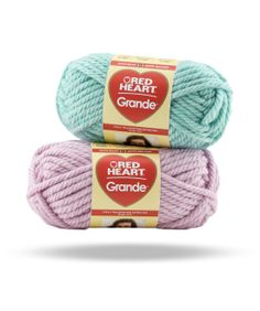 Grande -- Soft, super bulky acrylic/wool blend yarn is perfect for arm knitting or any quick project. Comes in a beautiful range of heathered shades.
