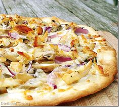 grilled pizza with chicken