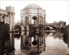 The Palace of Fine Arts was originally built to be temporary structure as part of the Pan Pacific International Exhibition of 1915. To preserve this popular landmark, the original structure was eventually torn down and a nearly identical building of concrete was constructed on the site in the 1960's. 1915