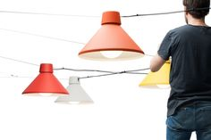 Silo pendant lamp by Note Design Studio Suspended Lighting, Overhead Lighting, Accent Lighting, Lighting System, Lighting Solutions, Modern Lighting, Lighting Design, Pendant Lighting, Pendant Lamps